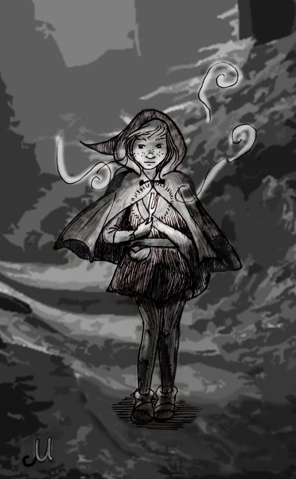 Jeune sorcière voyageant de villes en villages pour pratiquer son art illégal.