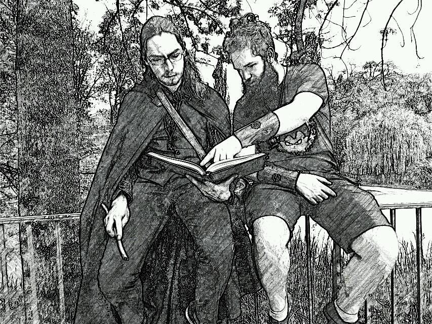 Les deux auteurs des Chroniques de Nebomore