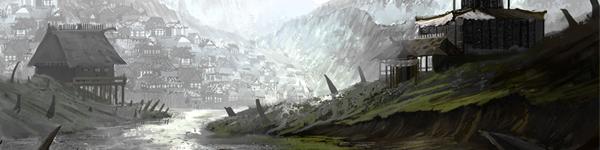 Illustration village elfe